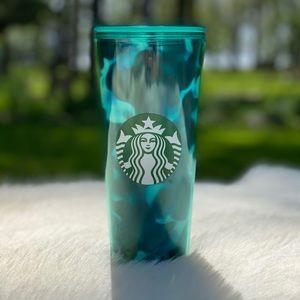 Starbucks 2020 Summer Blue Swirl Tortoise Tumbler
